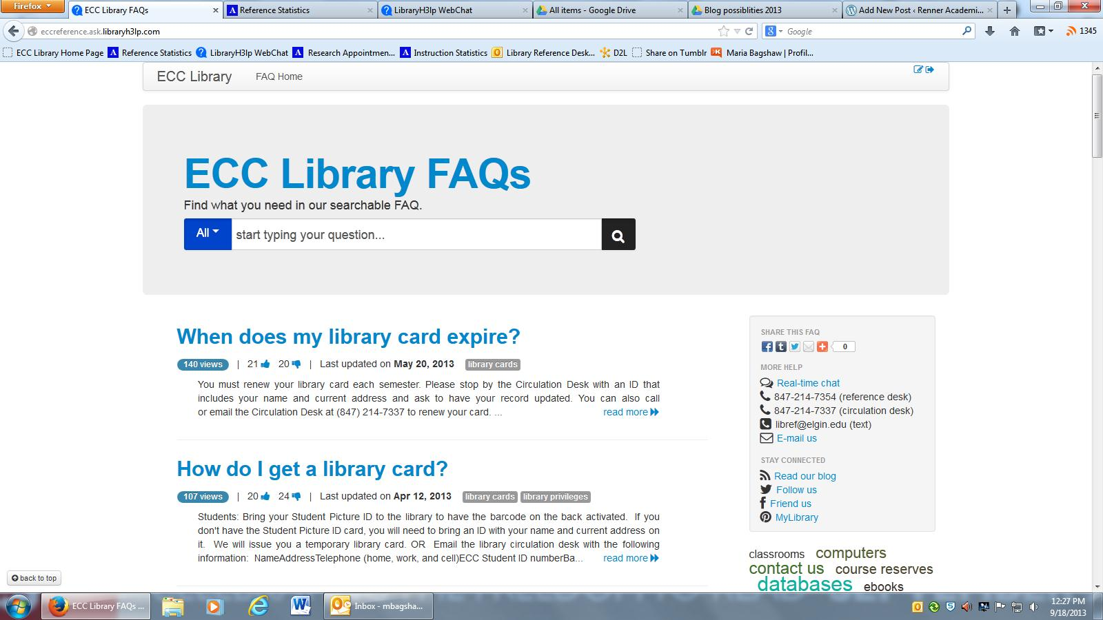 7ddfbe96bed Have a question but the library isn t open  Then try our How Do I (ECC  Library FAQ) page. This site lists our most frequently asked questions